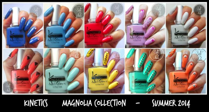 Betty Nails: Kinetics Magnolia Collection - Swatches and Review