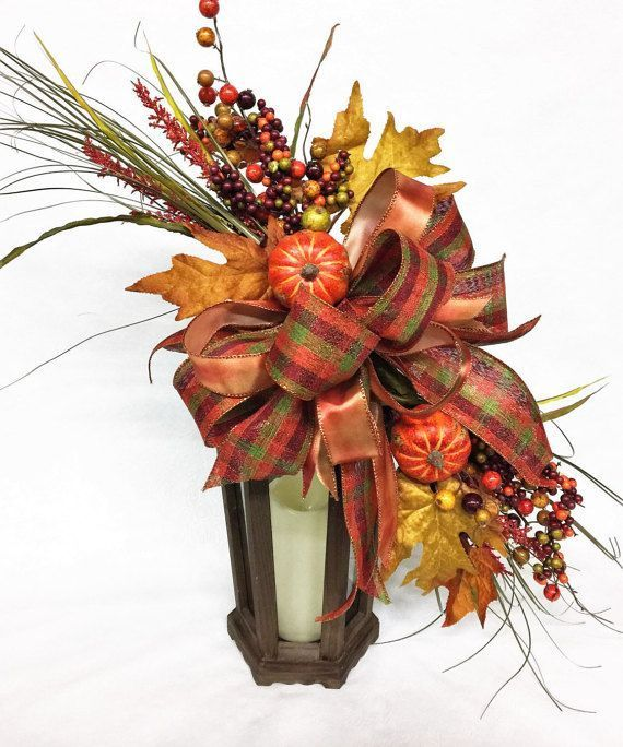 Fall Lantern Swag Holiday Swag Autumn by aDOORableDecoDecor