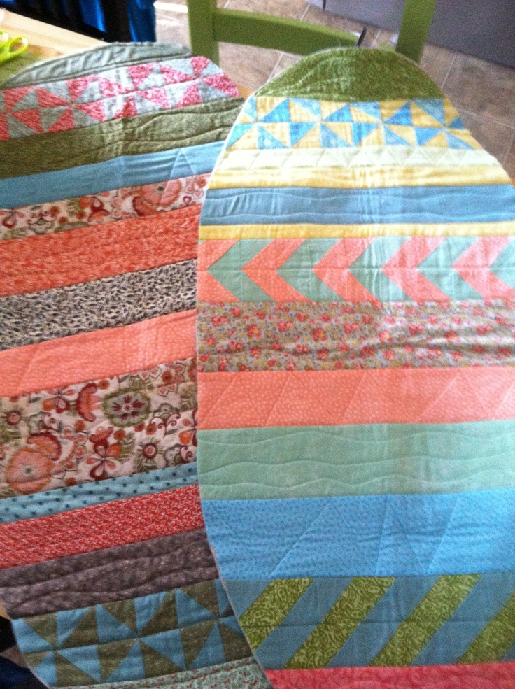 Easter eggs quilted table runners...