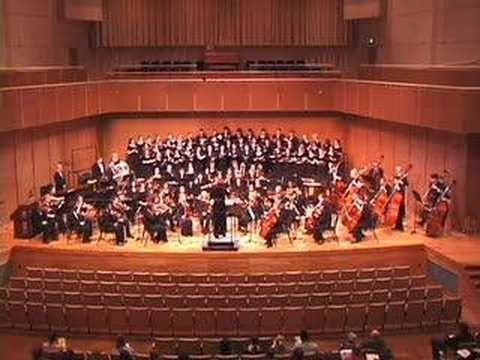 "John Corigliano. Fern Hill (part 2). The Illinois State University Symphony Orchestra and Concert Choir performing John Corigliano's setting of the Dylan Thomas poem ""Fern Hill"""