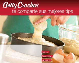 tips para hornear betty crocker