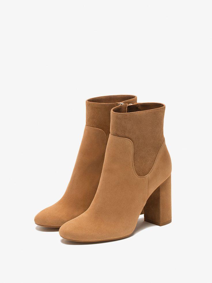 BOTÍN PIEL ANTE TOSTADO de MUJER - Zapatos - Botines de Massimo Dutti de Otoño Invierno 2016 por 99.95. ¡Elegancia natural!