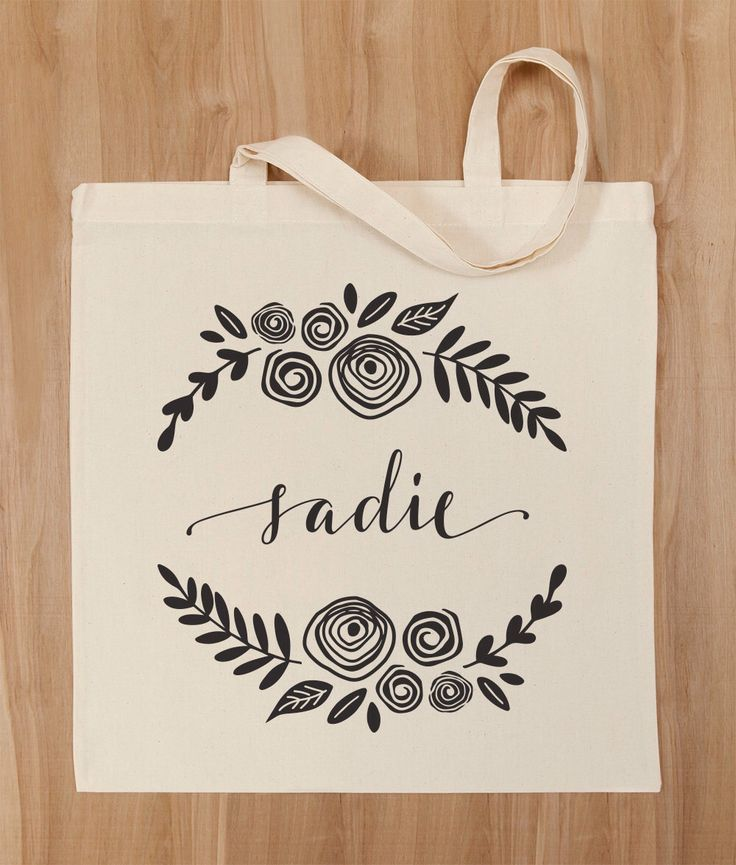 A personal favorite from my Etsy shop https://www.etsy.com/listing/287016179/bridesmaid-canvas-tote-bag-custom