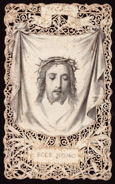 ECCE HOMO.  The Holy face of Jesus.