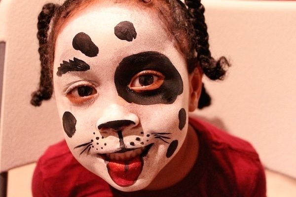 Dog Face Painting.