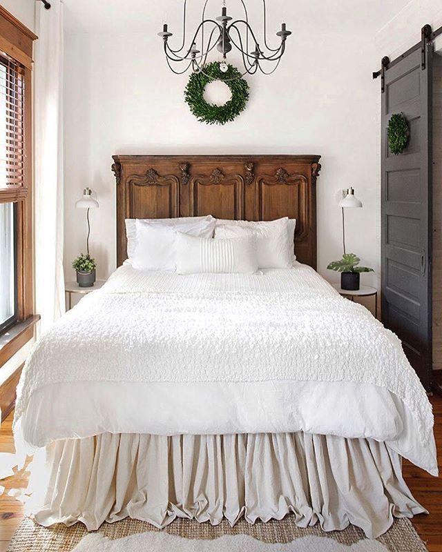 DIY'd no sew dropcloth bedskirt