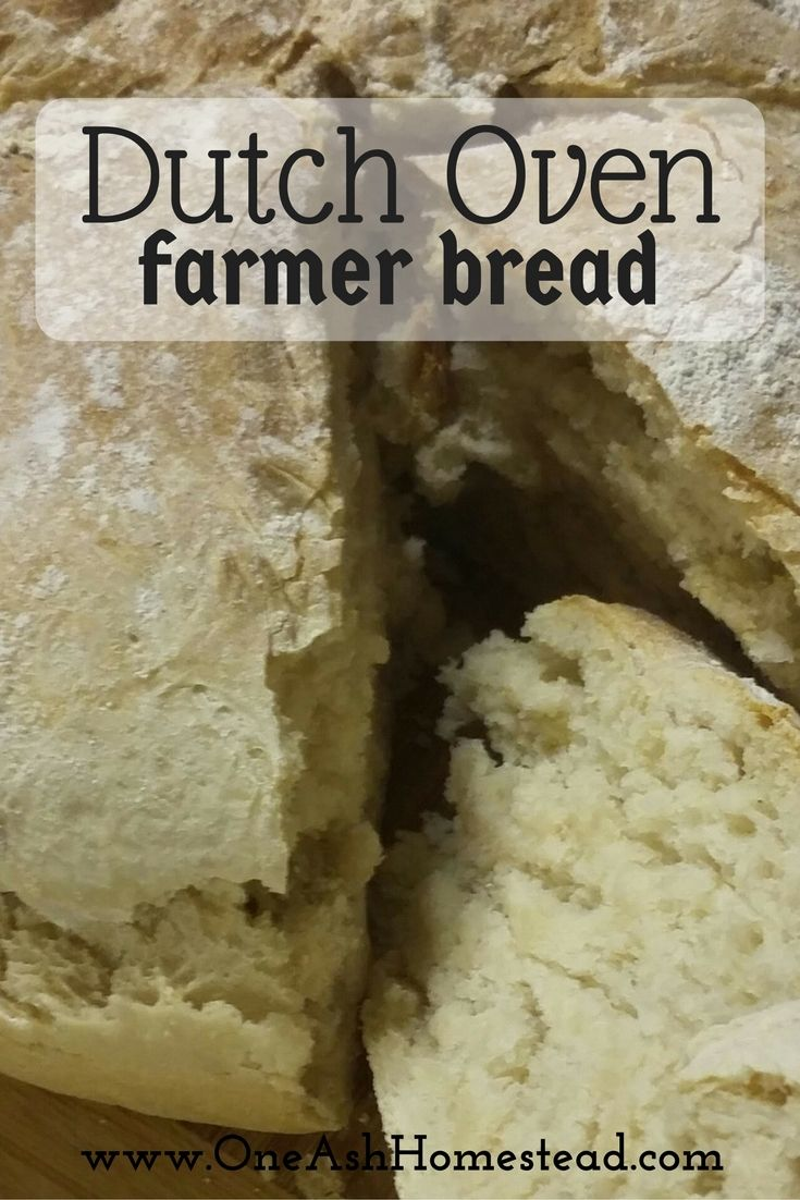 Dutch Oven Farmer Bread is a crusty, delicious bread that's perfect for the bread baking beginner!