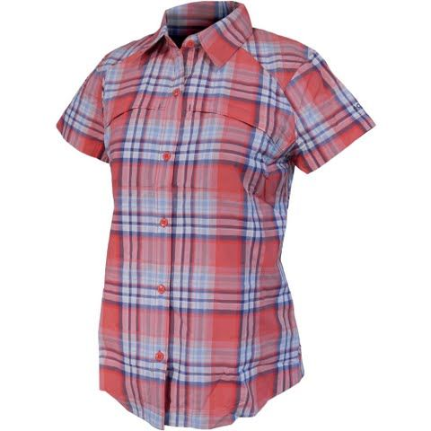 Columbia Women's Silver Ridge Multi Plaid Short Sleeve Shirt - Red Camellia Plaid: The Columbia`s Silver… #OutdoorGear #Camping #Hiking