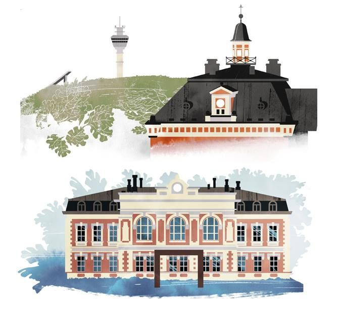 Illustrations by Jussi Kaakinen for the Finnish Cultural Foundation's Regional Funds, 2014