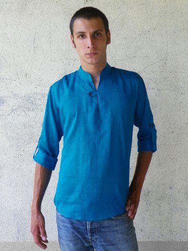 Tunique homme bleu électrique - BAÏSAP