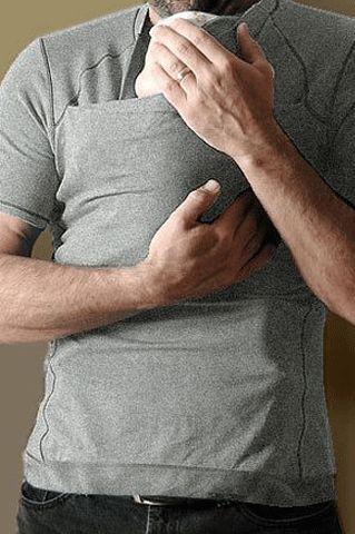 Men's Skin-To-Skin Kangaroo T-Shirt {Heather Grey} – Milk & Baby