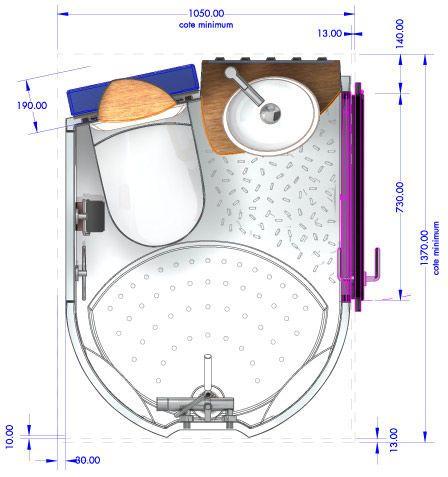 Contemporary bathroom / ceramic / precast / for professional use - AQUACOOL - AQUADREAM