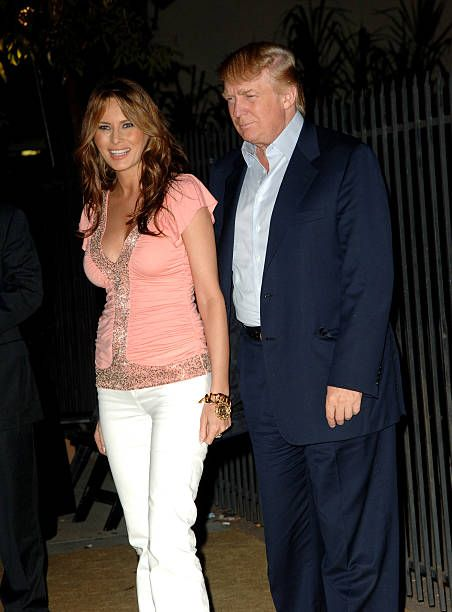 Donald Trump and wife Melania during US Weekly's Young Hollywood Hot 20 September 16 2005 at LAX in Hollywood California United States