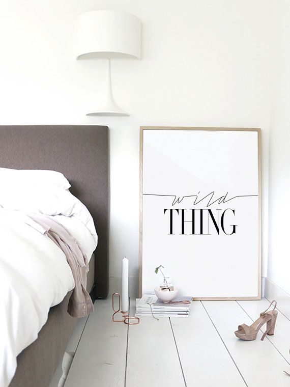 Wild Thing Fashion Poster Typography Print by lettersonlove ... love this for the bedroom! ;)