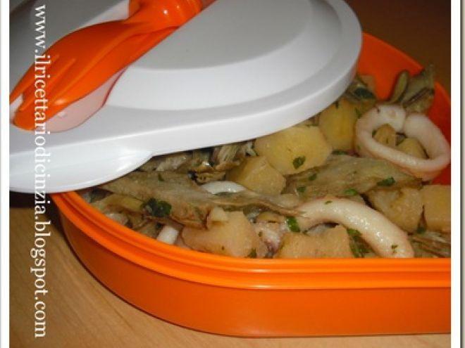 Ricetta Portata principale : Calamari carciofi e patate da Cinziaz