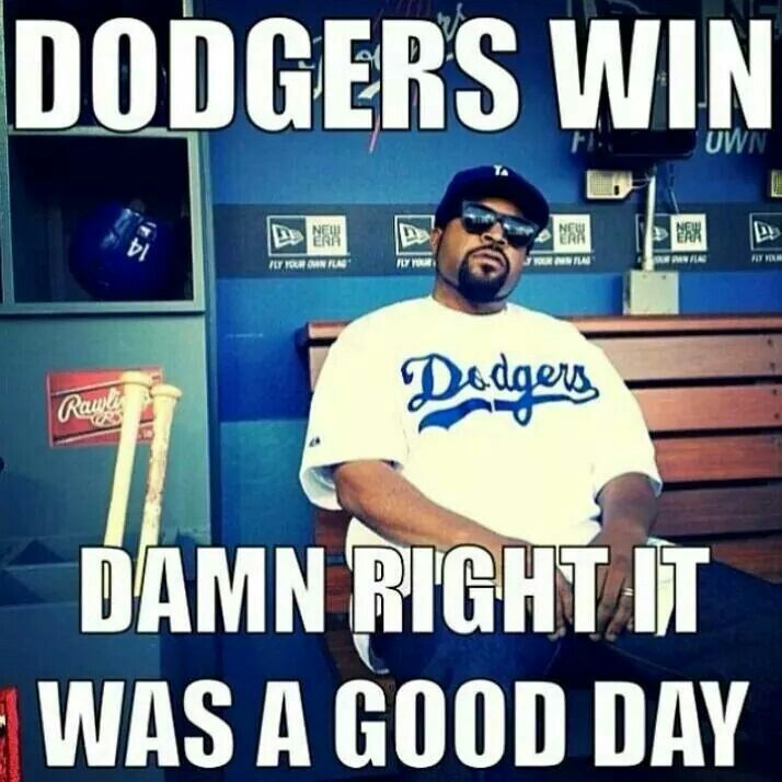 Dodgers win it's a good day