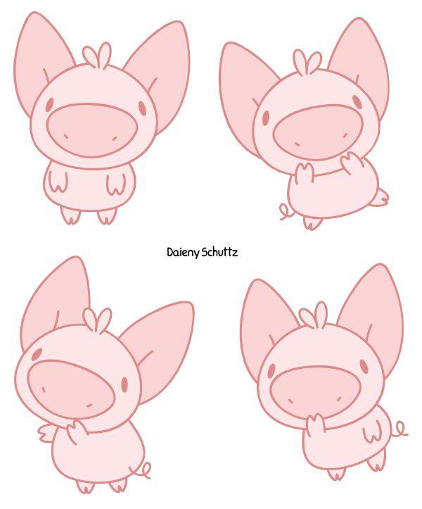 Funny Pig by Daieny.deviantart.com on @DeviantArt
