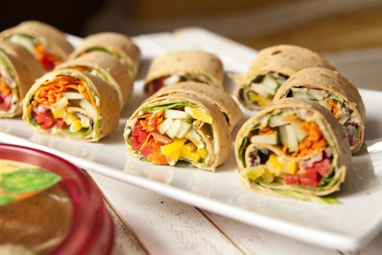 Mediterranean veggie wraps. Perfect for tailgating. Veggies Pinwheels ...