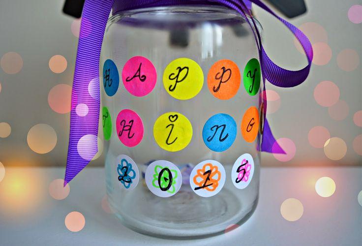 Happy Things Jar | 2015 ♥ http://www.dollydowsie.com/2015/01/happy-things-jar-2015.html