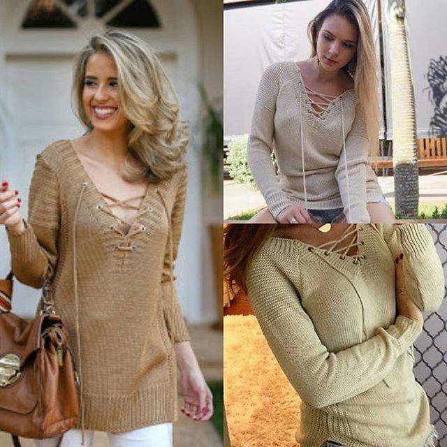 [Imagem ilustrativa] A queridinha do inverno chegou na Lott Store: blusa de tricô com amarração em ilhós! Apenas 84,90! Está muito barato!  Snapchat: LOJASLOTT Disponível na loja física ou pelo whatsaap (18) 99610-3513. Acesse nosso site www.lottstore.com.br . #lookinverno #lookdeinverno #outonoinverno #blusateico #ilhos #modinha  #frio #blusa #blusafrio #feminino #moda #fashion #style #tendencia #muitoamor #lottstore #frio #blusadefrio #look #lookdodia #bijoux #iloveit #estilo #roupa...