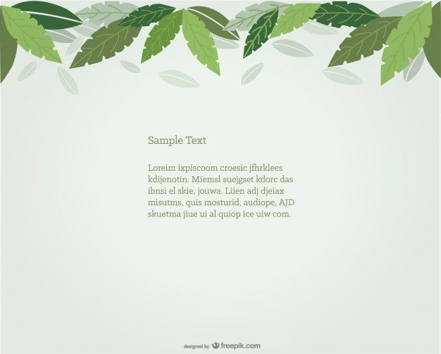 Green Leaves Background Design