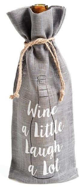 'wine a little' wine bottle gift bag