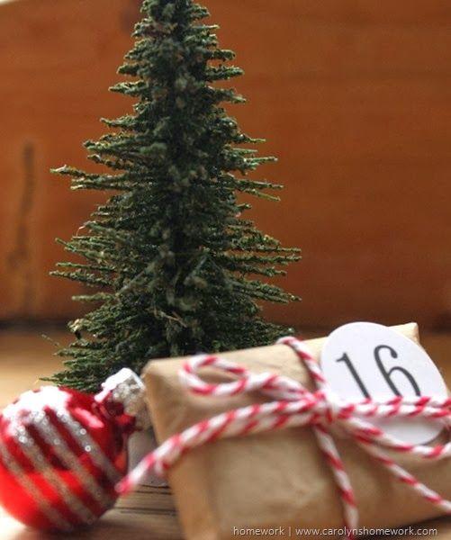 Brown Paper Packages Advent via homework | carolynshomework.com
