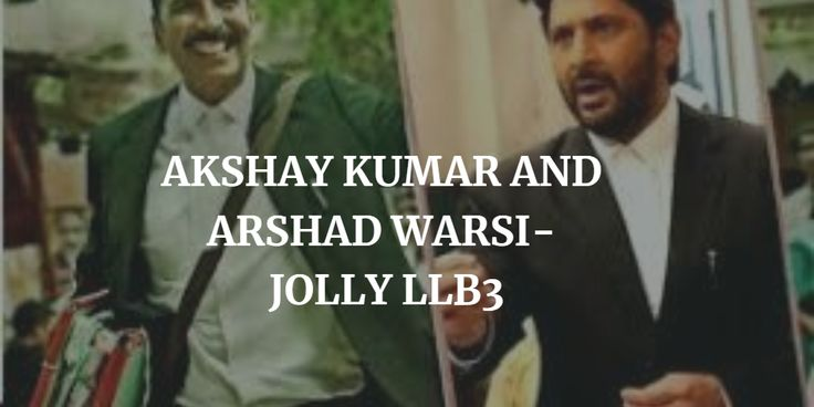 The success of JOLLY LLB 1 and 2 has motivated the director for the third part of JOLLY LLB with both Akshay Kumar and Arshad Wasi.