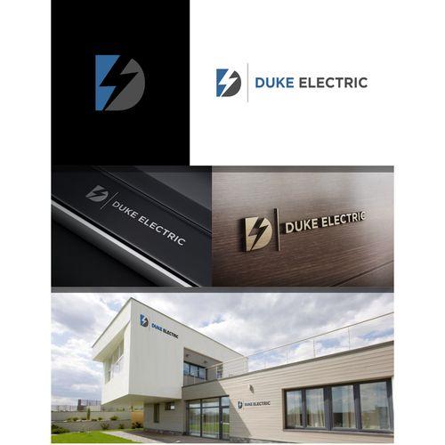 Duke Electric - Create a corporate minimalist clean logo for Duke Electric