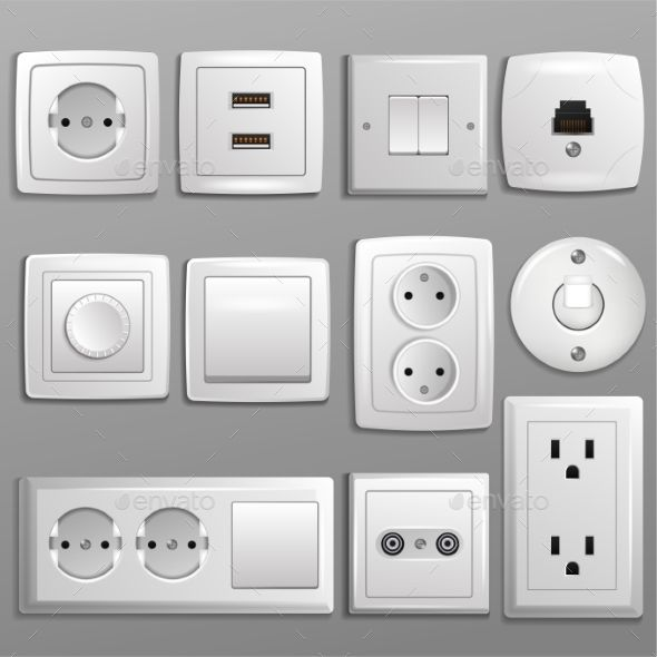 Socket And Switch Vector Electrical Outlets Wall Paint Designs Plates On Wall