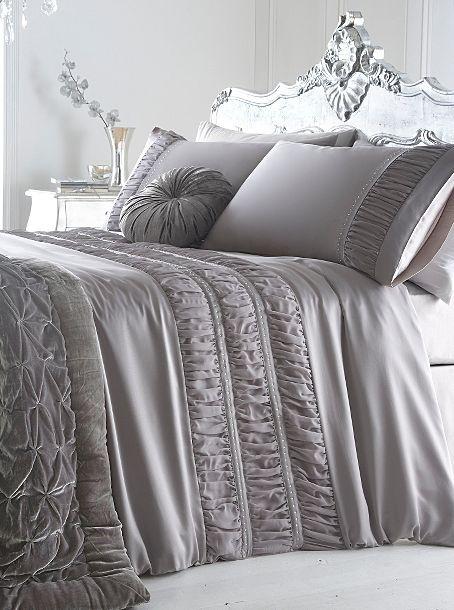 Silver 'Monroe' bed linen - Duvet covers & pillow cases - Bedding - Home & furniture -