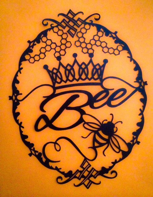 Queen Bee Paper Cut   Papercut Template by    Queen Bee Template