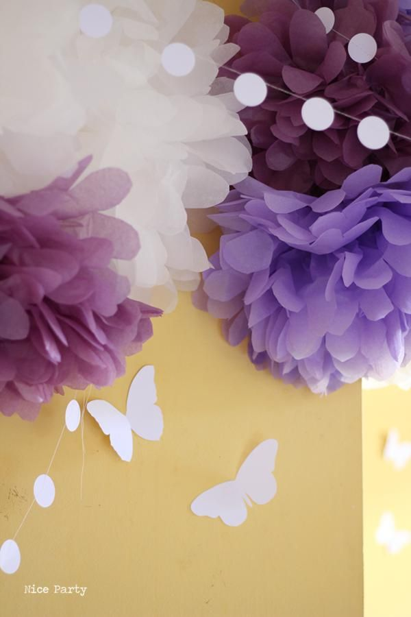 Butterfly Yellow Purple Girl 1st Birthday Party Planning Ideas