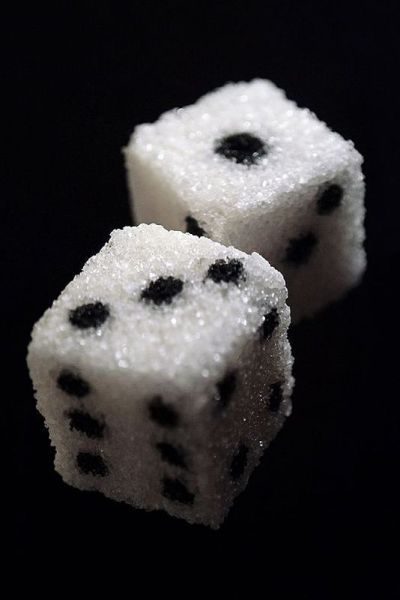 sugar dice  .... COULD BE FUN TO ADD TO COCKTAIL OR COFFEE