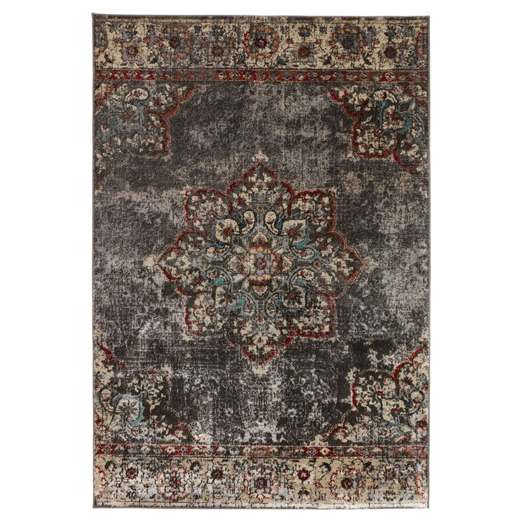 Vloerkleed LAMONI - Perzisch vloerkleed met verweerde uitstraling. Veerkrachtig, kleurvast en voelt zacht aan. 235x160 cm (lxb). #kwantum #vloerkleed #vloerbedekking #interieur #wonen
