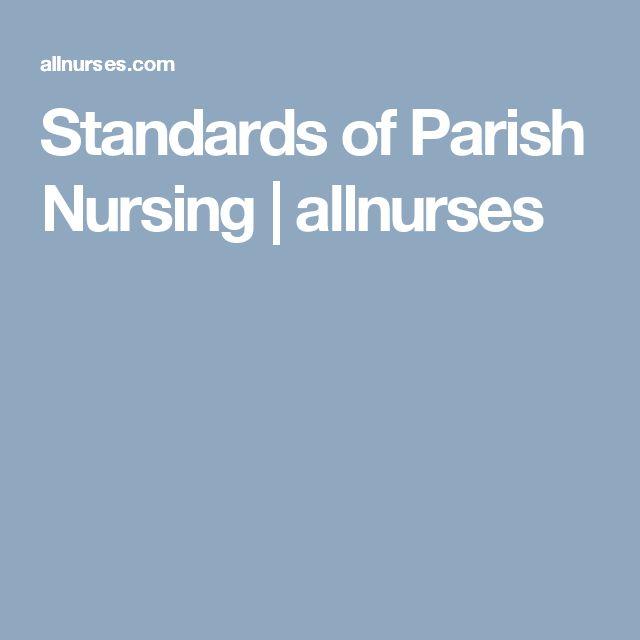 Standards of Parish Nursing | allnurses