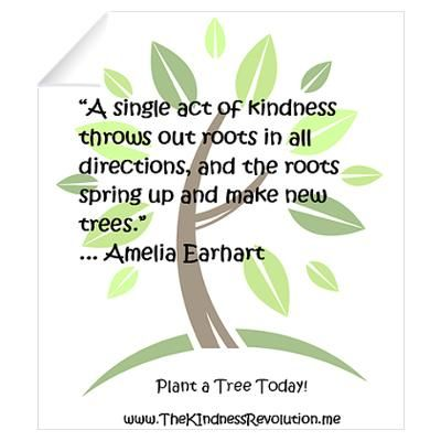 Print out and place near classroom Kindness Tree ( Paper tree trunk, basket of cut-out leaves for students to write names & acts of kindness then tape to tree-- BUT here's a twist-- may not write leaves for themselves, but for kind acts they see each other doing).