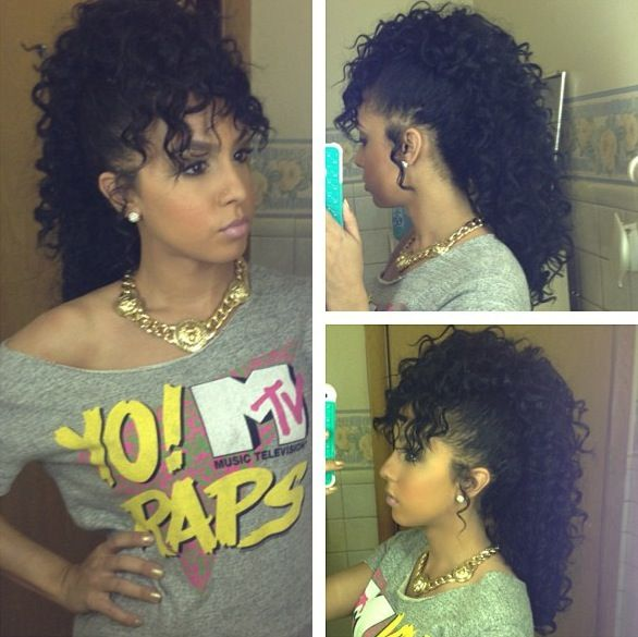 Curly Mohawk | Curly hair fantasy | Pinterest | Love