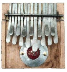 KALIMBA thumb piano in F tuning. 15 key instrument made of maple wood. Handmade by Dingiswayo Juma from Zimbabwe.