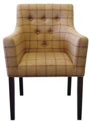SOHO Luxurious Button Back Arm Chair in Moon Wool