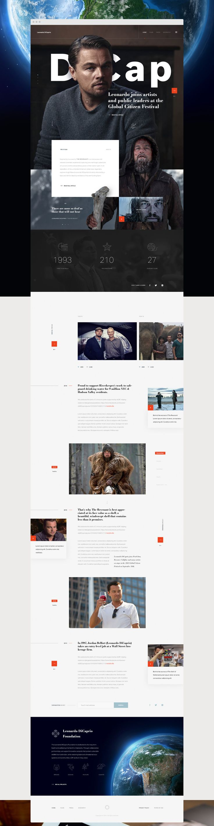 Leonardo DiCaprio Foundation on Behance