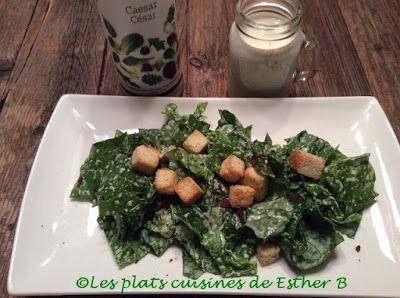 Les plats cuisinés de Esther B: Salade César Épicure