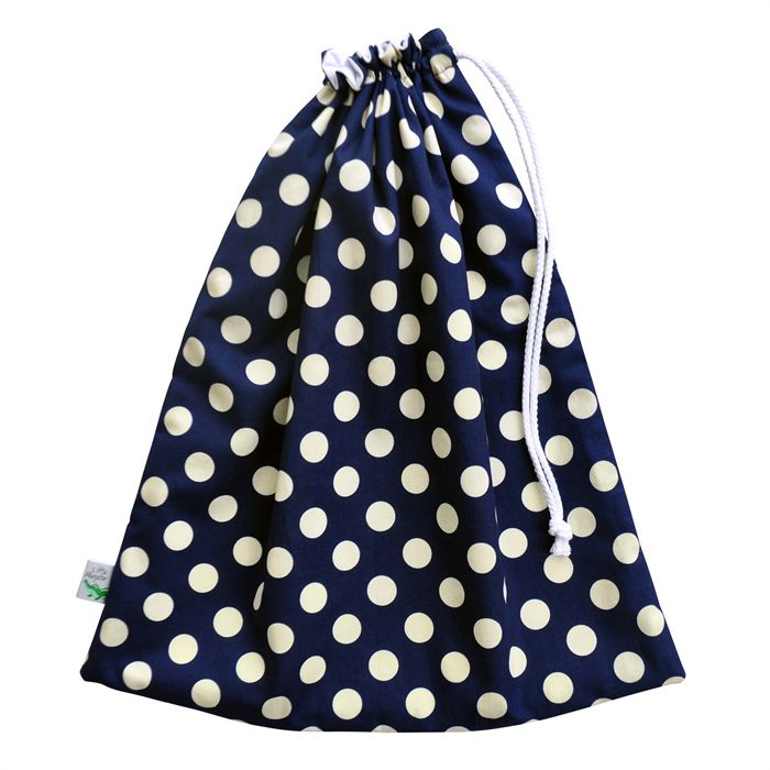 Large Swim Bag / Waterproof Wet Bag. Navy with Cream Dots. Pool or Beach Bag. Little Alligator on Madeit.