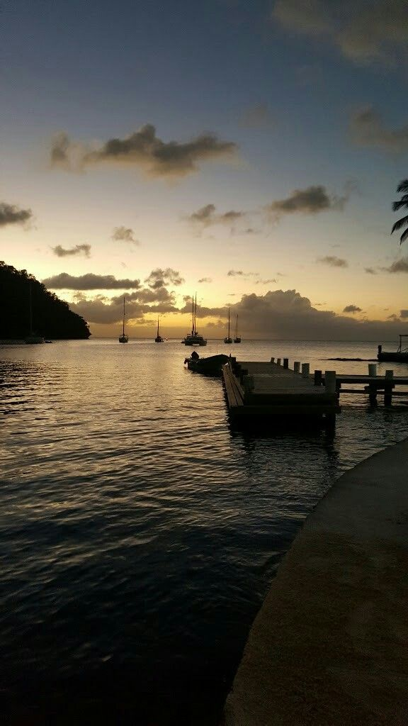 Beautiful sunset, Marigot Bay St Lucia...so miss home