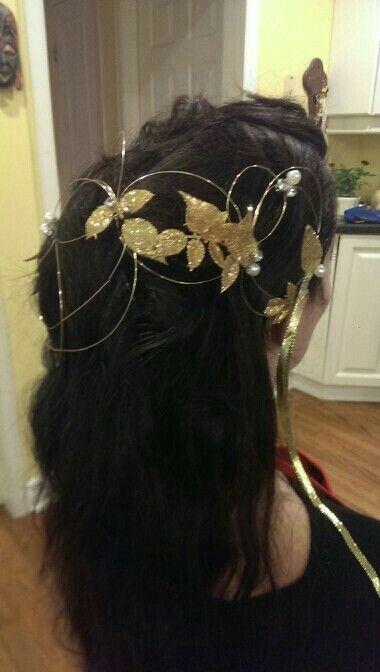 Labyrinth hair piece.