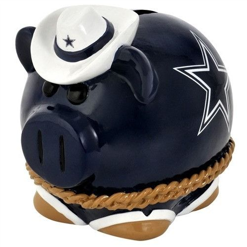 Dallas Cowboys Resin Large Thematic Piggy Bank