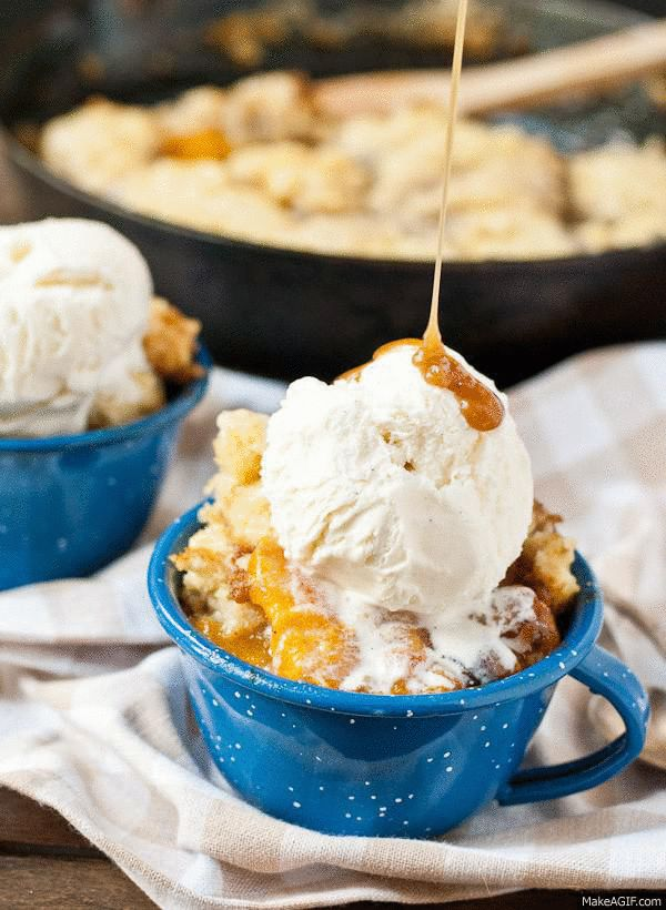 Consider this Peach Slump with Maple Caramel Sauce a cross between cobbler and bread pudding. In other words, perfect.