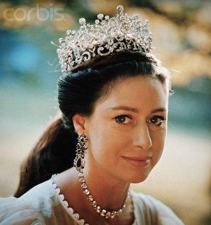 Princess Margaret in the Poltimore tiara.
