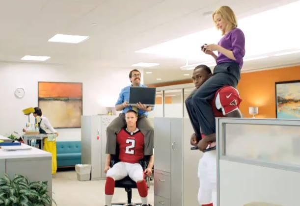 Gus* Modern | A keen eye spotted our #AtwoodSofa in an NFL Fantasy Football commercial. | Atwood Sofa - http://gusmodern.com/collections/sofas-sleepers/products/atwood-sofa