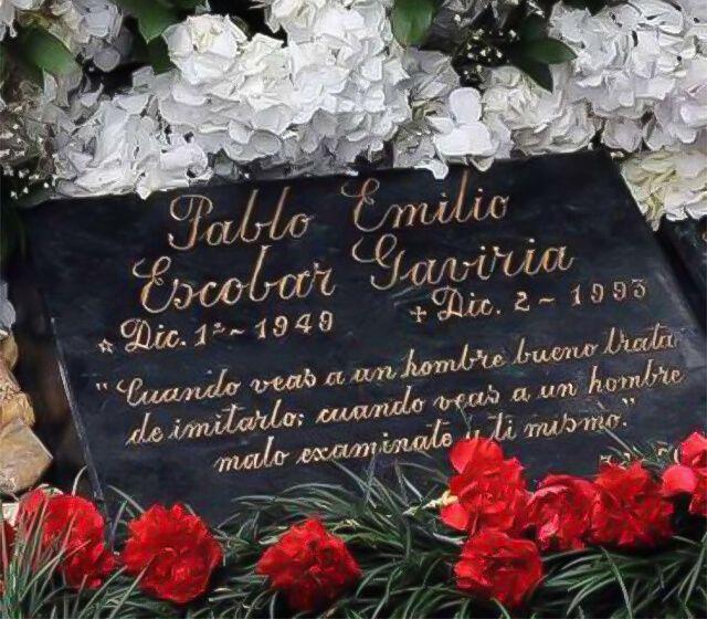 Lápida De Pablo Escobar Alertadigital Pablo Escobar Frases Lapida Pablo Emilio Escobar